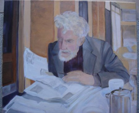 Mr Norwood eccentric living in Norwood South Australia by artist  Cheryl Nolan