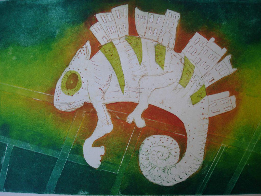chameleon by Australian artist  Cheryl Nolan